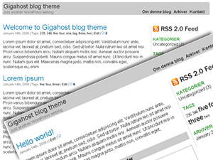 Gigahost WordPress-tema